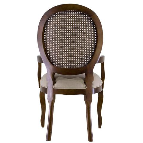 Imagem de Cadeira de Jantar Medalhão Lisa Com braço - Wood Prime 14700