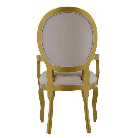 Imagem de Cadeira de Jantar Medalhão Lisa Com braço - Wood Prime 14704