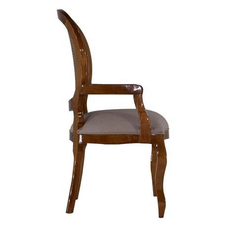 Imagem de Cadeira de Jantar Medalhão Lisa com Braço - Wood Prime 898206