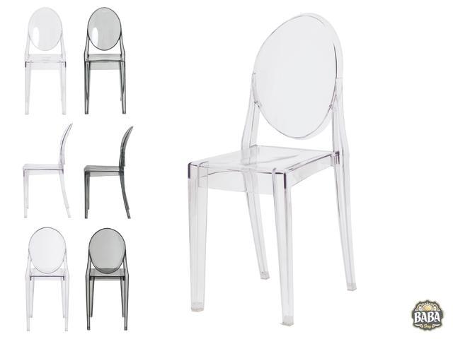 Imagem de Cadeira De Jantar Miss Sofia Victoria Ghost Sem Braço Transparente