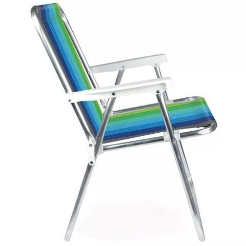 Imagem de Cadeira de Praia Alta de Aluminio Mor