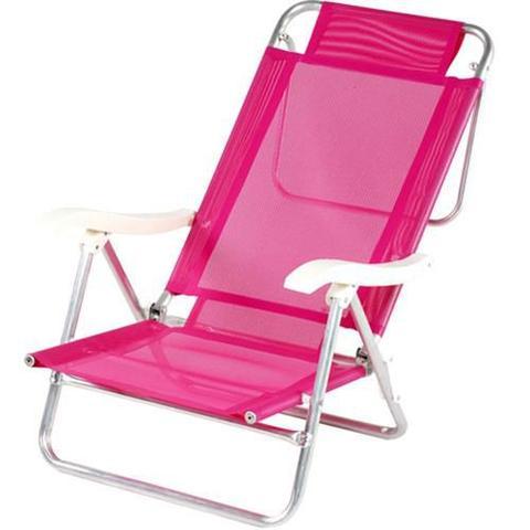 Imagem de Cadeira de Praia de Alumínio Mor Sol de Verão, Rosa