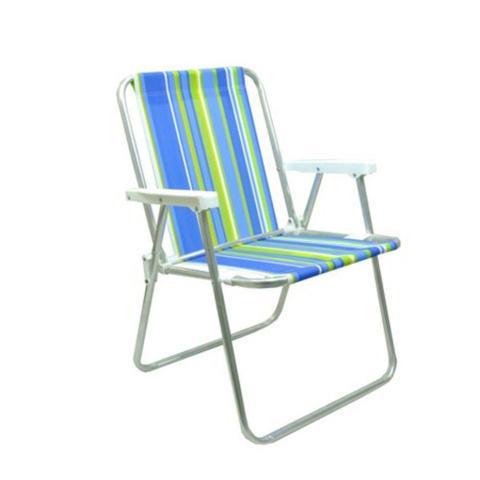 Imagem de Cadeira De Praia Mor Alta Dobravel Em Aluminio
