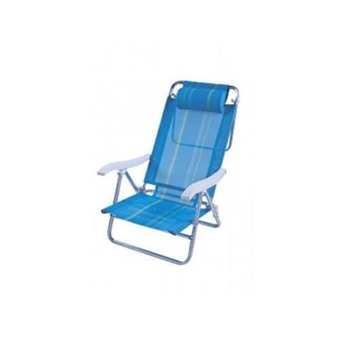 Imagem de Cadeira de Praia Mor Reclinável Sol de Verão Boreal Azul