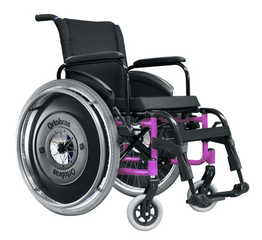 Imagem de Cadeira de Rodas AVD Alumínio Pés Fixos Ortobras