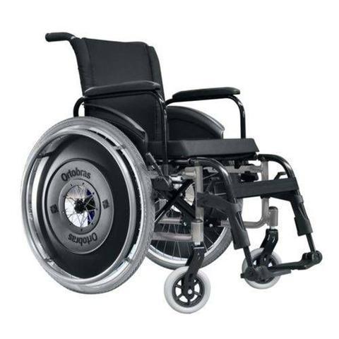 Imagem de Cadeira de Rodas AVD - Ortobrás - Preto