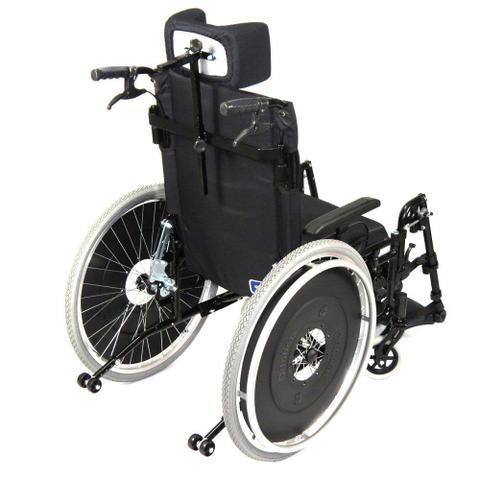 20296af13 Imagem de Cadeira de Rodas Reclinável AVD Alumínio Ortobras Dobrável X com  Apoio de Cabeça 000000