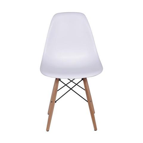 Imagem de Cadeira Dkr Eames Polipropileno Base Eiffel Madeira Branca