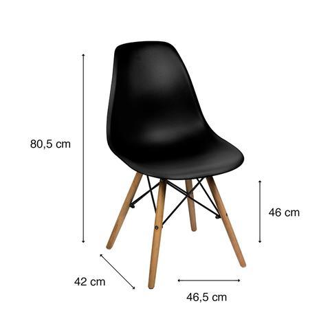 Imagem de Cadeira Dkr Eames Polipropileno Base Eiffel Madeira Preta