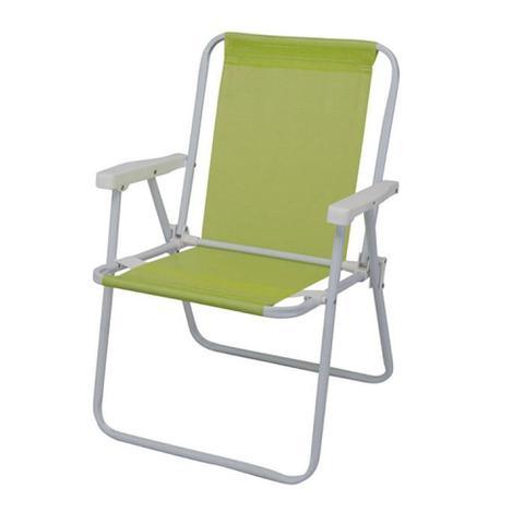 Imagem de Cadeira Dobrável Alta Sannet Aço 2287 Verde Maçã - Mor - Mor