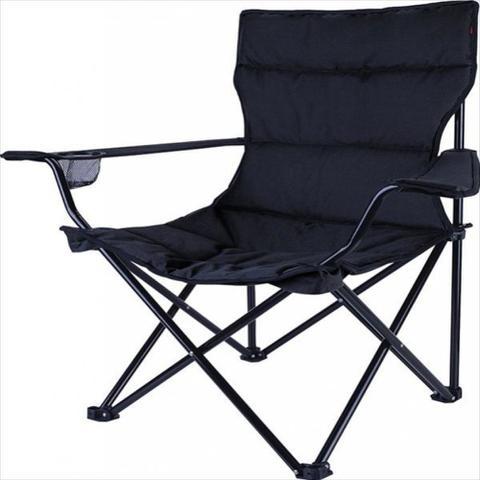 Imagem de Cadeira Dobravel Boni Preta Camping Pesca Nautika + Bolsa