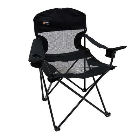 Imagem de Cadeira Dobravel Fresno Preta Camping Pesca Nautika com Bolsa