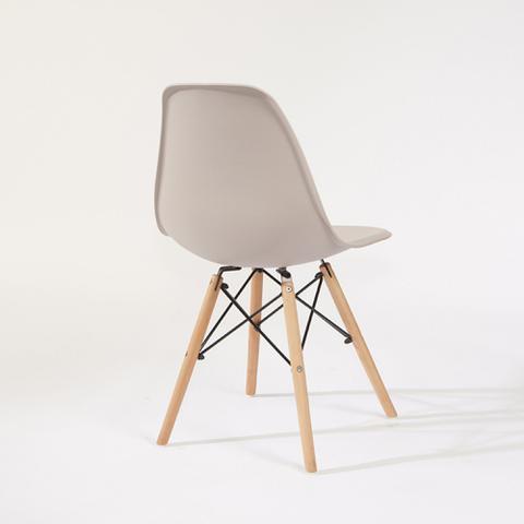 Imagem de Cadeira Eames Decorativa Mesa Sala Jantar Escritório Nude