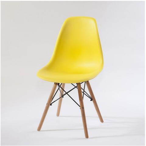 Imagem de Cadeira Eames Decorativa pra Mesa Jantar Escritório Amarelo