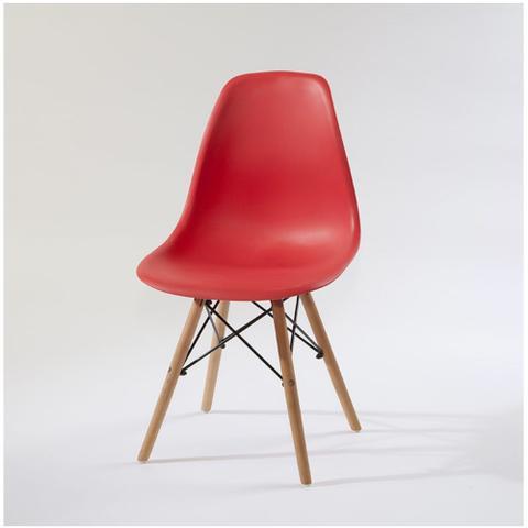 Imagem de Cadeira Eames Decorativa pra Mesa Jantar Escritório Vermelho