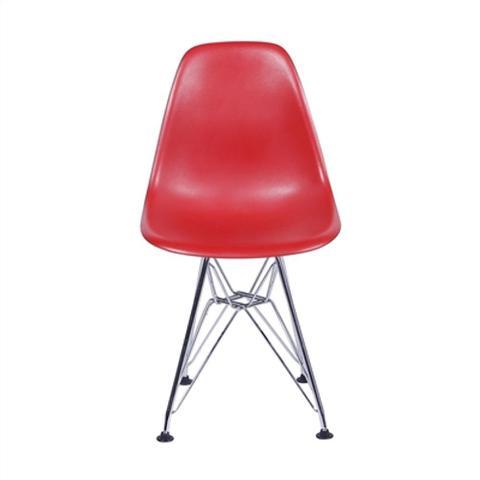 Imagem de Cadeira Eames Dkr Vermelho Com Base Em Metal