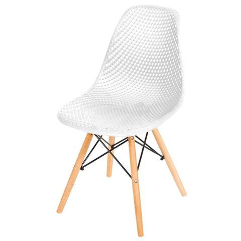 Imagem de Cadeira Eames Furadinha Branca