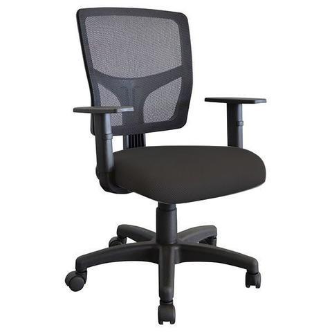 Imagem de Cadeira Escritório home office Preta  Giratória Ergonômica Encosto Em Tela Nr17