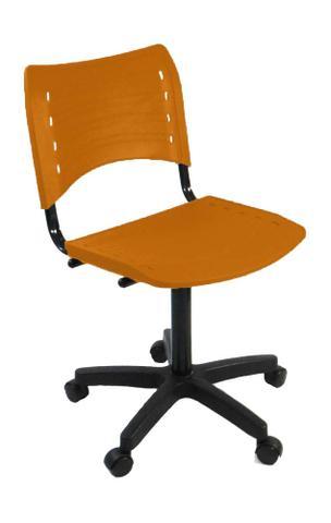 Imagem de Cadeira Evidence s/ regulagem de altura e com assento e encosto em Polipropileno - Laranja