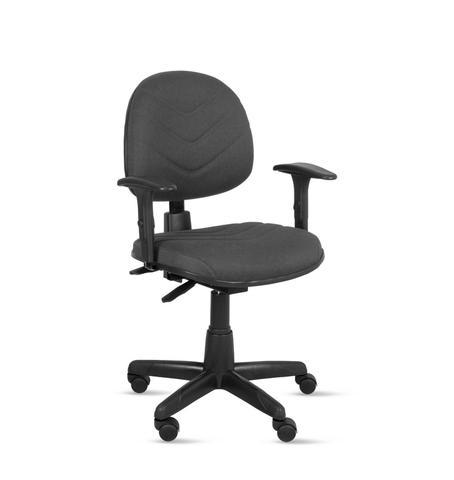 Imagem de Cadeira exec. spote ergonômica c/costura base giratória c/braço regulável-tecido crepe cinza-pp100