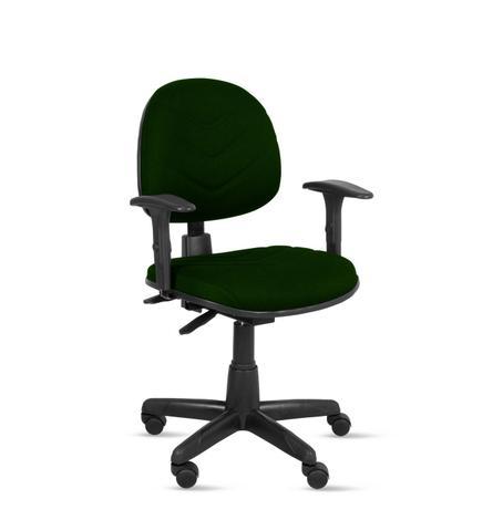 Imagem de Cadeira exec. spote ergonômica c/costura base giratória c/braço regulável-tecido crepe verde musgo-pp100