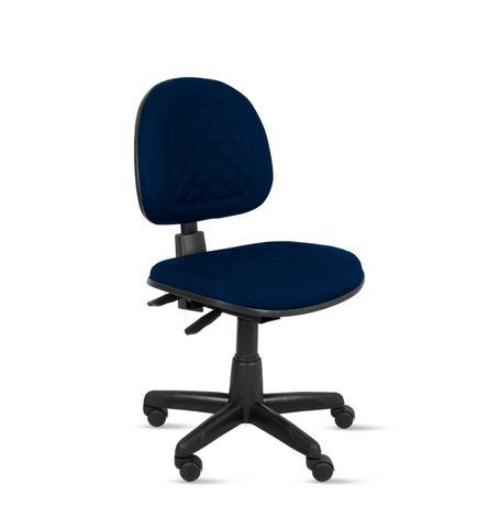 Imagem de Cadeira exec. valena ergonomica c/ costura em base giratória back system - tecido crepe azul escuro/marinho - pp82