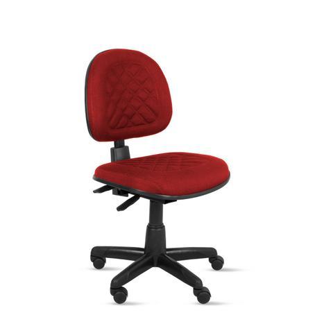 Imagem de Cadeira exec. valena ergonomica c/ costura em base giratória back system - tecido crepe vermelho - pp82