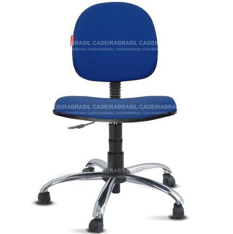 Imagem de Cadeira Executiva Escritório Tecido Azul Escuro Cadeira Brasil