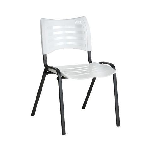 Imagem de Cadeira ISO Plástica Para Igrejas, Sorveterias, Restaurante - BRANCA - KASMOBILE