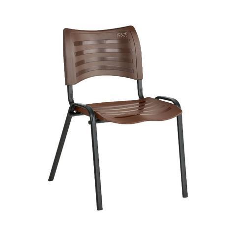 Imagem de Cadeira ISO Plástica Para Igrejas, Sorveterias, Restaurante - MARROM - KASMOBILE