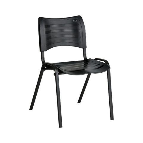 Imagem de Cadeira ISO Plástica Para Igrejas, Sorveterias, Restaurante - PRETA - KASMOBILE