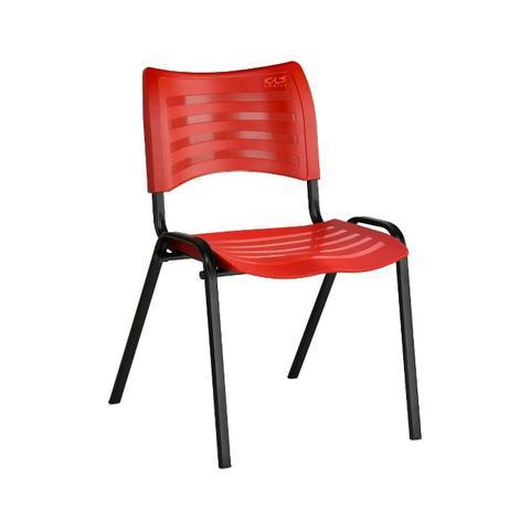 Imagem de Cadeira ISO Plástica Para Igrejas, Sorveterias, Restaurante - VERMELHA - KASMOBILE