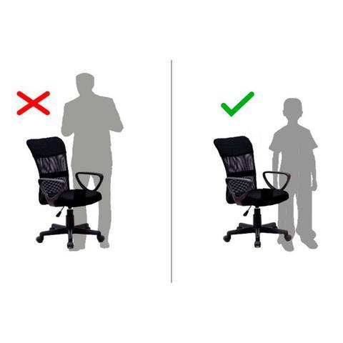 Imagem de Cadeira Juvenil Pequena Giratória com Braços Quebec ll Preta