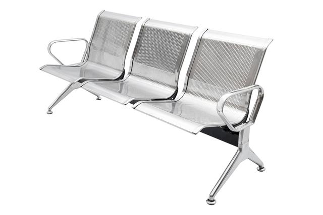 Imagem de Cadeira longarina 3 lugares inox