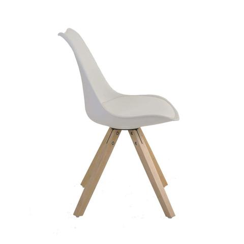 Imagem de Cadeira Madeira Maciça e Polipropileno Lígia Rivatti Nude