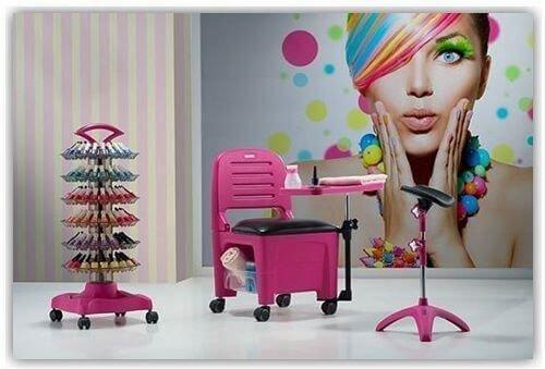 Imagem de Cadeira Mesa Manicure Cirandinha Bari Cinza - Dompel