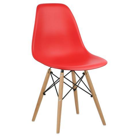 Imagem de Cadeira New Vermelha NO.05 Wood Dsw em PP