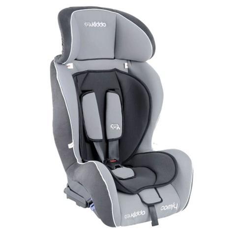 Imagem de Cadeira para Auto Kiddo Comfy Reclinável  - 2 Posições para Crianças até 25kg Cor Cinza+Preto