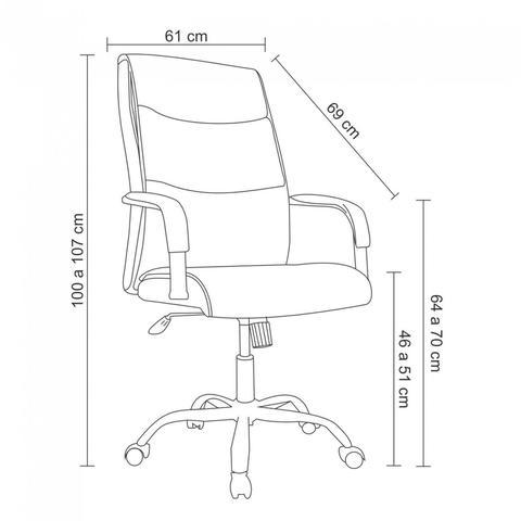 Imagem de Cadeira para Escritório Siena Rivatti Preto