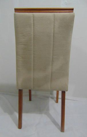 Imagem de Cadeira para Mesa Sala de Jantar Pé Madeira Estofada Bruna c/ Pega Eloá