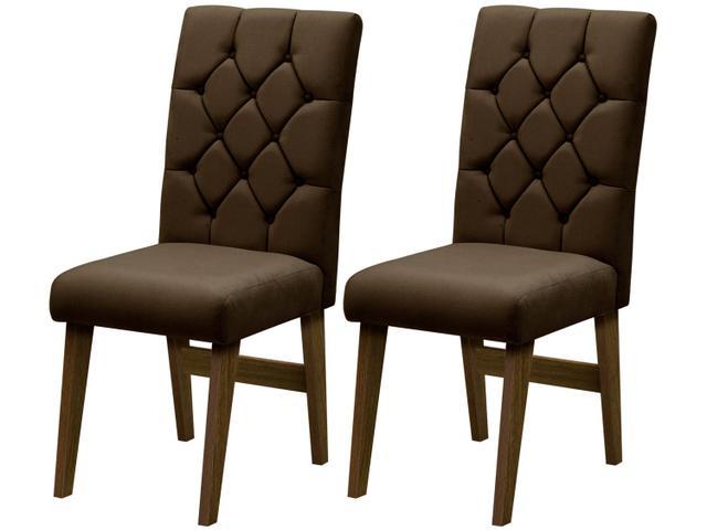 Imagem de Cadeira para Sala de Jantar Estofada 2 Peças