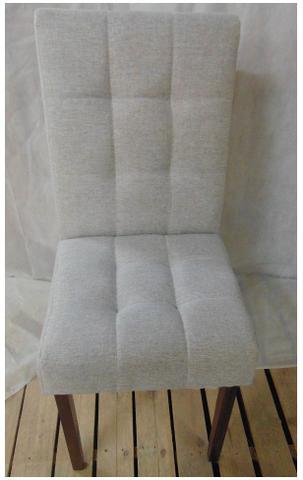 Imagem de Cadeira pra Mesa Sala Jantar Pé Madeira Estofada Bruna