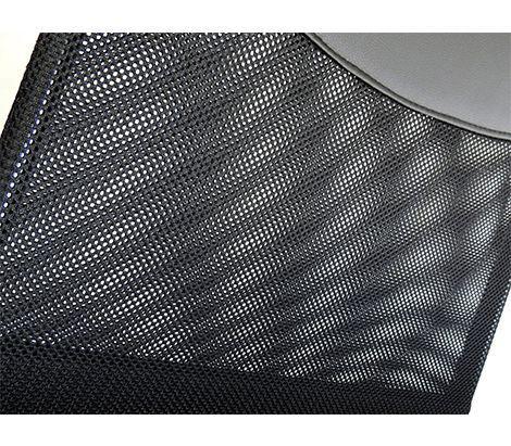 Imagem de Cadeira Presidente giratória, rodizio PU com base cromada e Tela Mesh PEL-8009 - Pelegrin