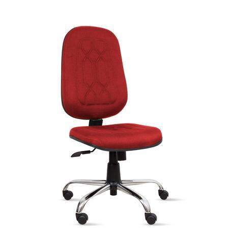 Imagem de Cadeira presidente gold c/ costura base giratória relax cromada - tecido crepe - vermelho - pp252