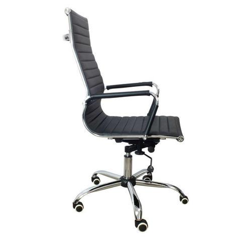 Imagem de Cadeira Presidente PU PEL-1190H Preta Design Charles Eames - Pelegrin
