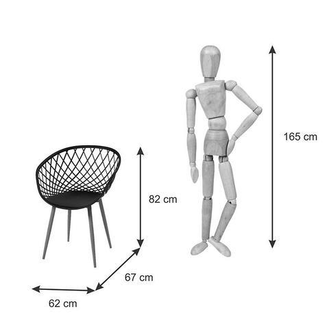 Imagem de Cadeira Stela com Braço e Assento em Polipropileno