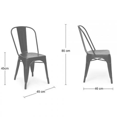 Imagem de Cadeira Tolix Iron - Vermelha