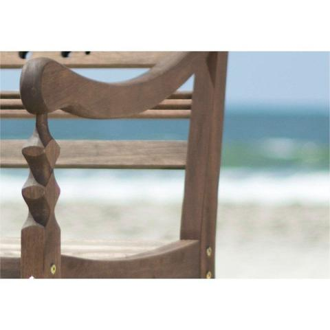 Imagem de Cadeira Varanda 100 Madeira Nogueira - Mão  Formão