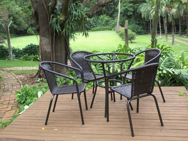 Imagem de Cadeiras De Área Jardim Em Fibra Jogo 4 Cadeiras