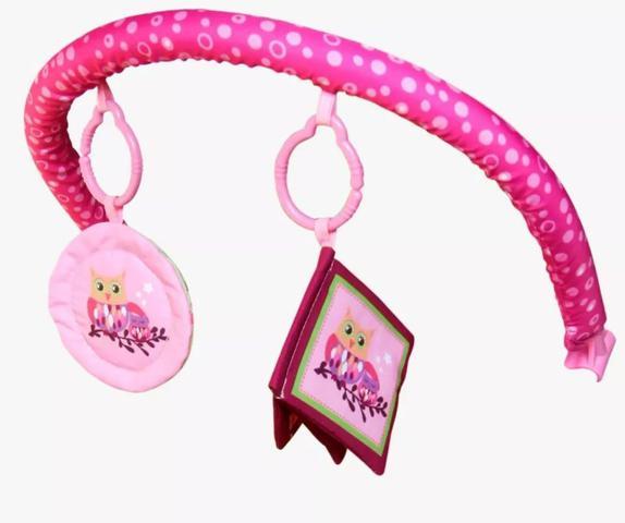 Imagem de Cadeirinha de descanso bebê rosa com musica e vibração